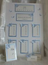 Wedding Stationery 50 guests - Table plan, Table numbers & Place cards Butterfly