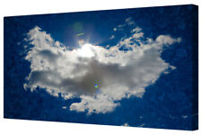 White Angel Cloud Wings Blue Sky Large Canvas Picture Print Framed Wall Art