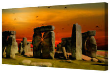Stonehenge Ancient Stone Circle Abstract Canvas Picture Wall Art Print