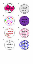 Save the Date Wedding Personalised Custom Magnets Badges add text photo 45, 58mm