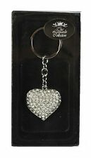 Diamante Cat Dog Owl Frog Heart Crown Teddy Bear Ladies Keyring Chain Gifts NEW