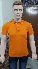 Lacosté Solid Men's Polo Slim Fit T-shirt @ Lowest Price (Orange)