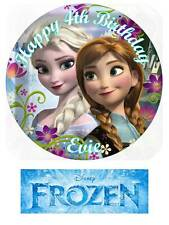 Disney Frozen Personalized Edible Cake/Cupcake/Fairy Cake toppers
