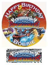Skylanders Superchargers Personalized Edible Cake toppers 7 Inch/cupcakes Precut