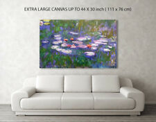 CLAUDE MONET WATER LILIES SERIES REPRO CANVAS BOX PRINT A1, A2, A3, A4 SIZE