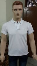 Lacosté Solid Men's Polo Slim Fit T-shirt @ Lowest Price (White)