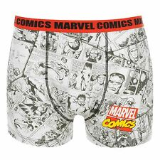 Marvel Comics Boxer Shorts Underwear Mens White/Black/Red Trunks Pants
