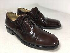 Vintage clarks brown mens shoes Leather lace up oxford cap toe uk 7