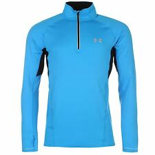 Under Armour Launch ¼ Zip Training Top Mens Electric Blue Pullover Shirt Sweater