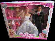 MALE & FEMALE & CHILD WEDDING DOLL PLAYSET, CLOTHES SHOES & ACCESSORIES UKSELLER