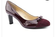 BNIB Peter Kaiser Patent Leather Shoes Aubergine Sizes UK 4.5 + 8 WIDE RRP £120