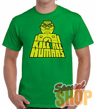 T-SHIRT UCCIDERE ALL HUMANS T-SHIRT RAGAZZO/A/SPALLINE/BAMBINO