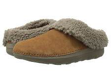 Women Fitflop Loaff Snug Slippers B76-047 Chestnut Suede 100% Authentic B. New