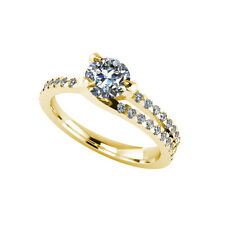 .50ct Solitaire Round Cut Ring with Accents Certified Diamond 18ct Gold 119