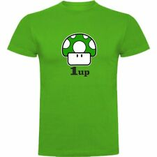 T-SHIRT NINTENDO SUPER MARIO FUNGO MUSHROOM GAMER LIFE 1-UP T-SHIRT SIL VDn023