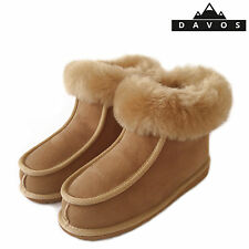 New Ladies Women's Deluxe 100% Pure Twinface Sheepskin Boots Slippers EVA Sole