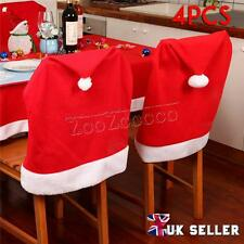 UK Santa Christmas Chair Covers Hat Dining Christmas Decoration 4/8/16pcs Set