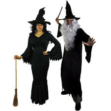 WITCH OR WIZARD HALLOWEEN FANCY DRESS COSTUMES HIS AND HERS LADIES MENS
