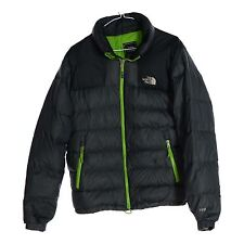 THE NORTH FACE Mens Designer Zip Jacket Coat Quilted Lining Grey Green Small S
