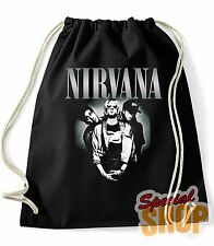 BORSA/ZAINO NIRVANA KURT COBAIN NEVERMIND GRUNGE ROCK MUSICA  BAG/BACKPACK