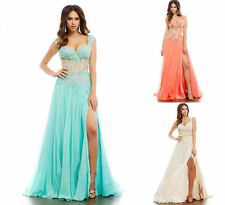 Sexy Long Applique Party Formal Evening Ball Prom Cocktail Dress Wedding Gowns