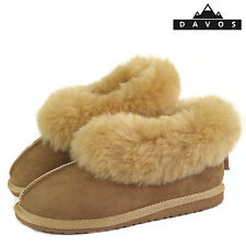 Livia Womens Luxury Handmade 100% Genuine Sheepskin Suede Fur Slippers EVA Sole