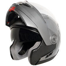 Hawk ST-1198 Gun Metal Transition Modular Dual Visor Full Face Motorcycle Helmet