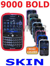AMZER Jelly Soft Silicone Skin Back Cover + Extra Case For BlackBerry Bold 9000