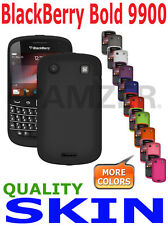 AMZER Silicone Skin Cover + extra Case / Screen Guard Blackberry Bold 9900 9930