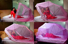 Folding&Standing  Mosquito Net all Size Original Poly cotton +2 LED watch FREE