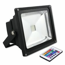 30W/50W RGB LED Security Floodlight Outdoor Flood Light IP65 With Remote Control