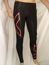 * NEW * 2XU Limited Edition Mens Compression Tights (Black/Sunburst Orange)