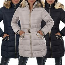L661 Damen Winter Jacke Steppjacke Parka Jacket Daunen Look Winterjacke