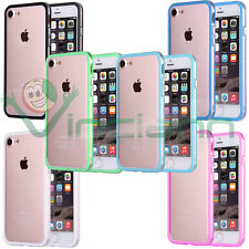 "Pellicola+Custodia BUMPER cover TPU per Apple iPhone 7 4.7"" case Trasparente"