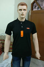 Team Superdry Solid Men's Polo T-shirt @ Lowest Price (Black) (Export Surplus)