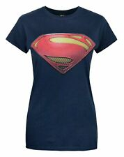 Official Superman Man of Steel Women's T-Shirt