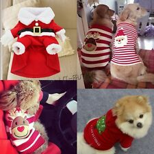 Dog Clothes Pet Christmas Costumes Puppy Cat Knit Sweater Coat Hoodie Apparel
