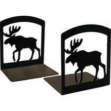 Village Wrought Iron BE-19 Moose Book Ends NEW