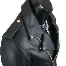 REV Leather Perfecto Brando Quilted Motorcycle 100% Real Cowhide Jacket M-2XL