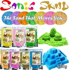Sonic Sand 500g Bags Mould & Play Magic Motion Crazy Never Dry Dough Colour Kids