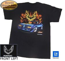 5cca24ab 77 FIREBIRD TRANS-AM FLAME T-SHIRT BLACK GM LICENSED 74 75 76 78