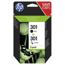 Original Oem HP negro y Color 301 / 301 Cartucho de tinta multipack (N9J72AE)