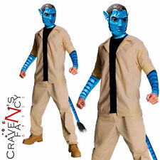 mens Jake Sully Adults Avatar Film Alien Fancy Dress Costume Outfit New