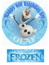 Disney Frozen Olaf Personalized Edible Cake toppers cupcakes or 7 Inch Precut