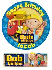 Bob the Builder Personalized  Edible Cake toppers 7 Inch or cupcakes Precut
