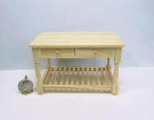 Dollhouse Miniature 1:12 Scale Wood Kitchen Work Table with Drawers