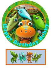 Dinosaur Train Personalized Edible Cake toppers 7 Inch cupcakes Precut