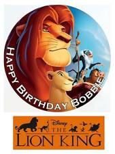 Disney Lion King Personalized Edible Cake toppers Precut on Icing/Wafer Card