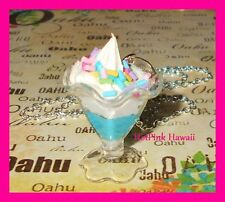 HANDMADE Birthday Cake Ice Cream Sundae Frosting Sprinkle Charm Silver Necklaces