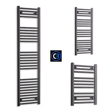 400mm Wide Black Designer Heated Towel Rail Radiator Rad Rack Warmer Straight